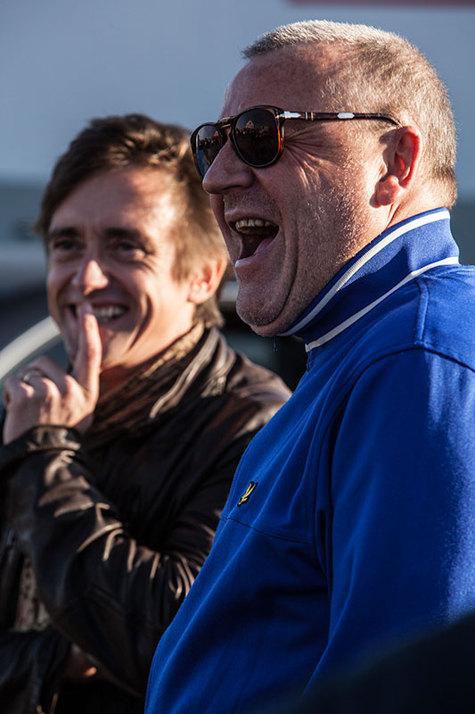 Richard hammond & Ray Winstone on The Sweeney set for Top Gear. Vertigo Films/BBC.