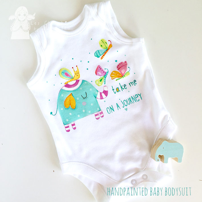HAND PAINTED BABY BODYSUIT