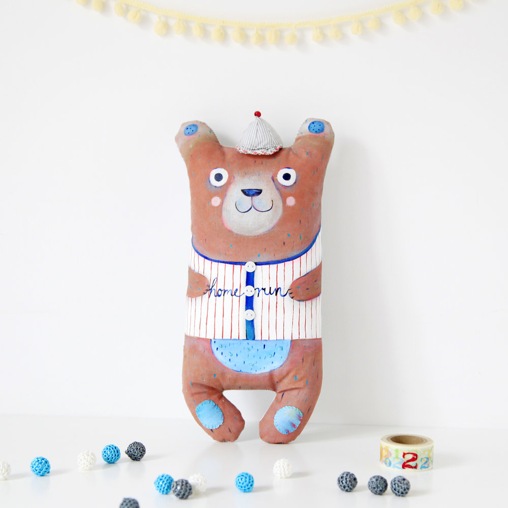 Hand painted toy bear Rony