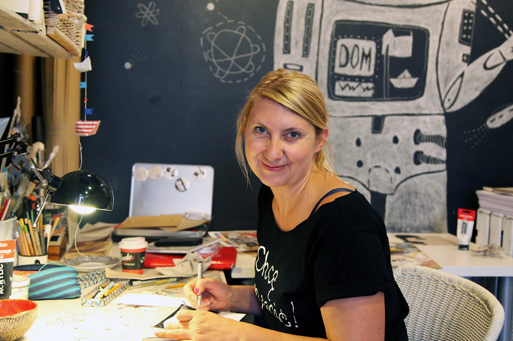 Amazing illustrator with a studio/gallery/shop called Lokarna on Josefa street in Krakow