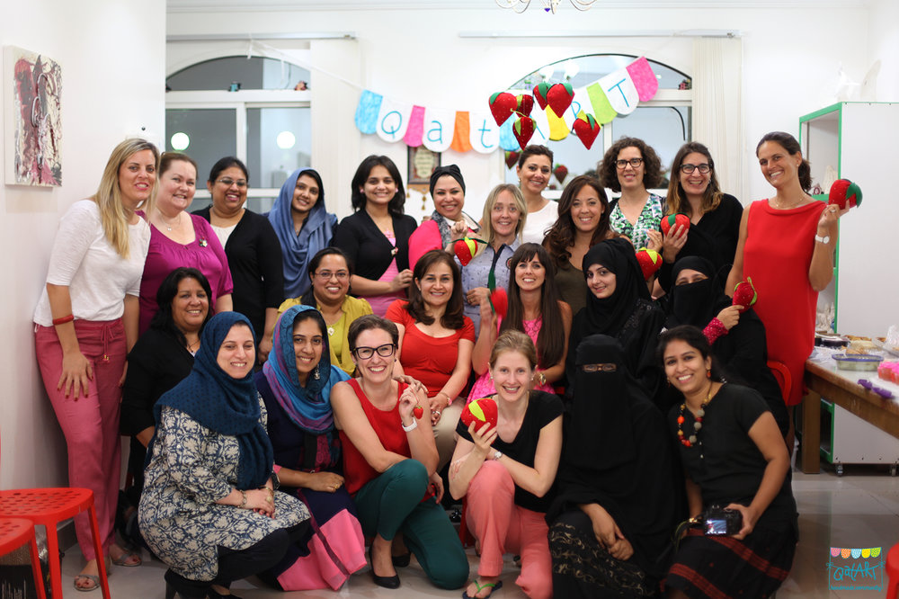 Some of the members of QatART community at our summer party 2015