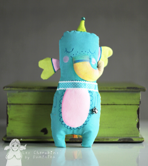 "Hand painted toy ""Tea time elephant"""