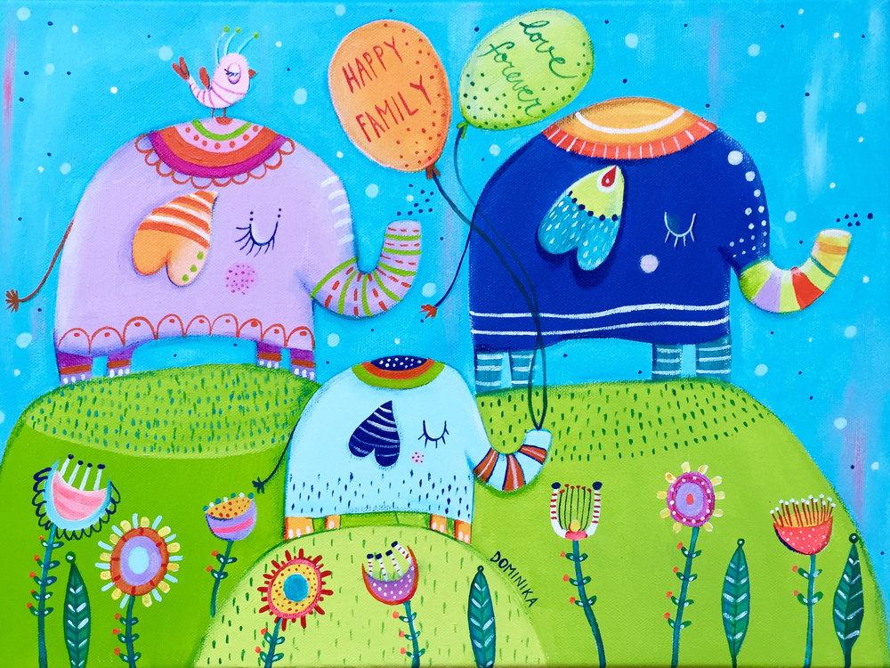 Happy family by Dominika Bozic