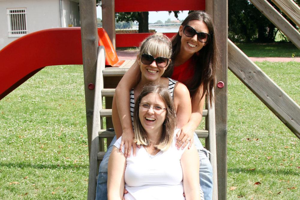 With my sisters in Osijek, Croatia