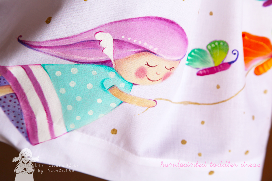 handpainted toddler dress by Dominika Bozic