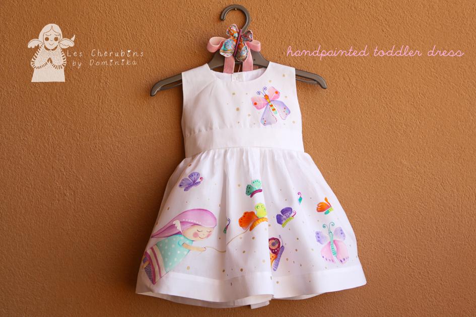 handpainted toddler dress