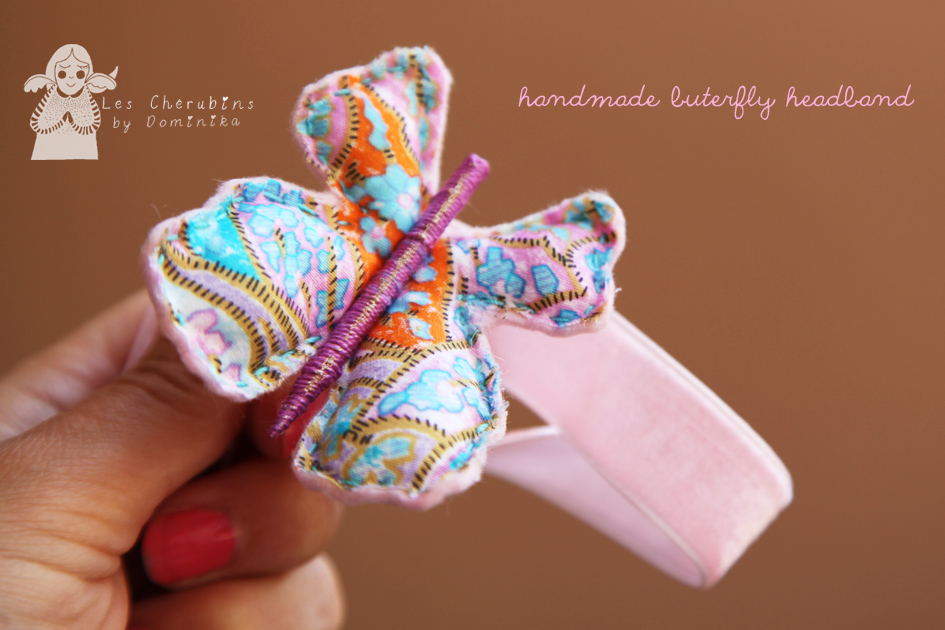 handmade butterfly headband by Dominika Bozic