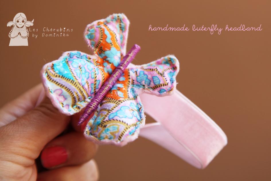 handmade butterfly headband by Dominika Bozic