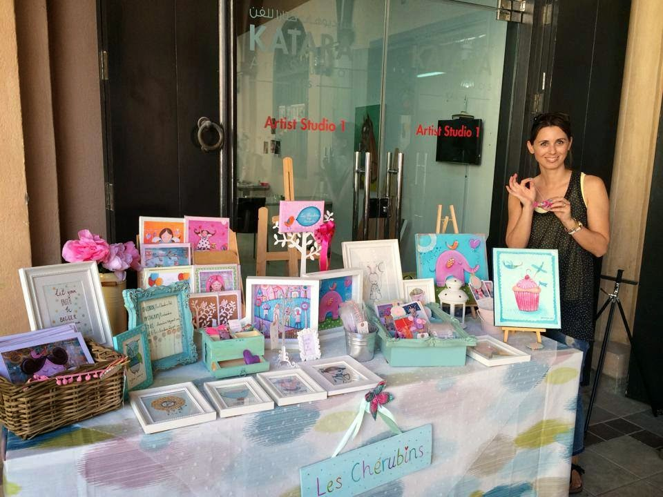 my display at Katara QatART Handmade Market at Katara Art Studios Courtyard