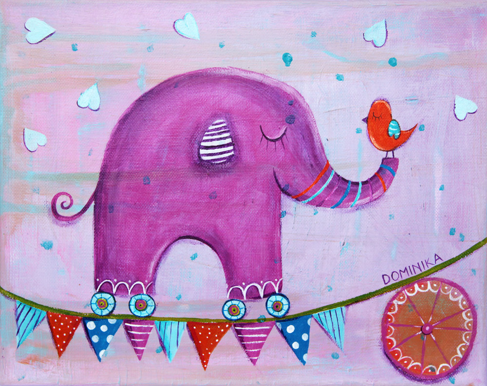 Circus elephant ~ by Dominika Bozic ~ 2012