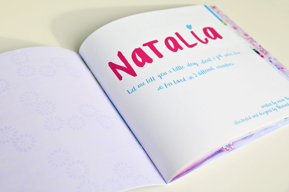 Personalized book for Natalia