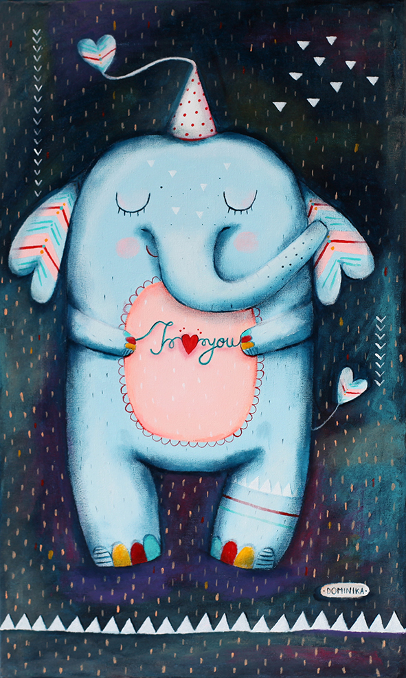 Blue elephant ~ Dominika Bozic ~ 2017