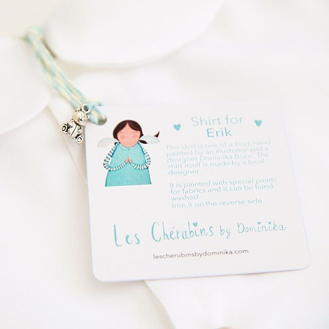 I love adding cute little touches to brand my products and my clients appreciate them too 🤗  #lescherubinsart #lescherubins #lescherubinsbydominika #dominikabozic