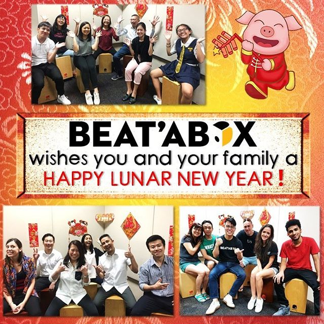 BEAT'ABOX wishes you and your family a HAPPY LUNAR NEW YEAR! 🎊🍾️🎉🎈😀