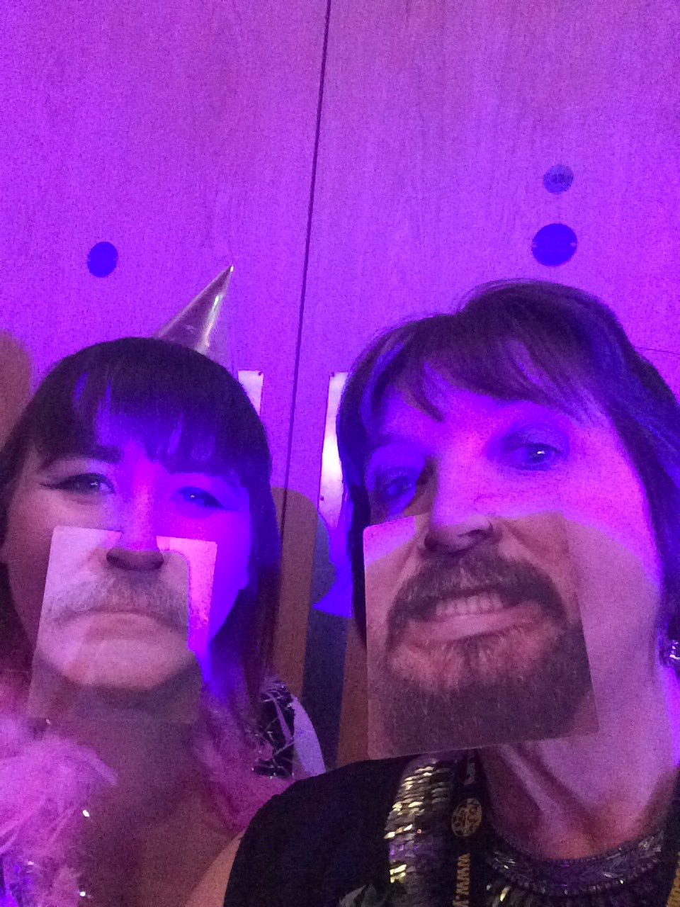 Emmie and June try out the photobooth at last year's Young Scot Awards