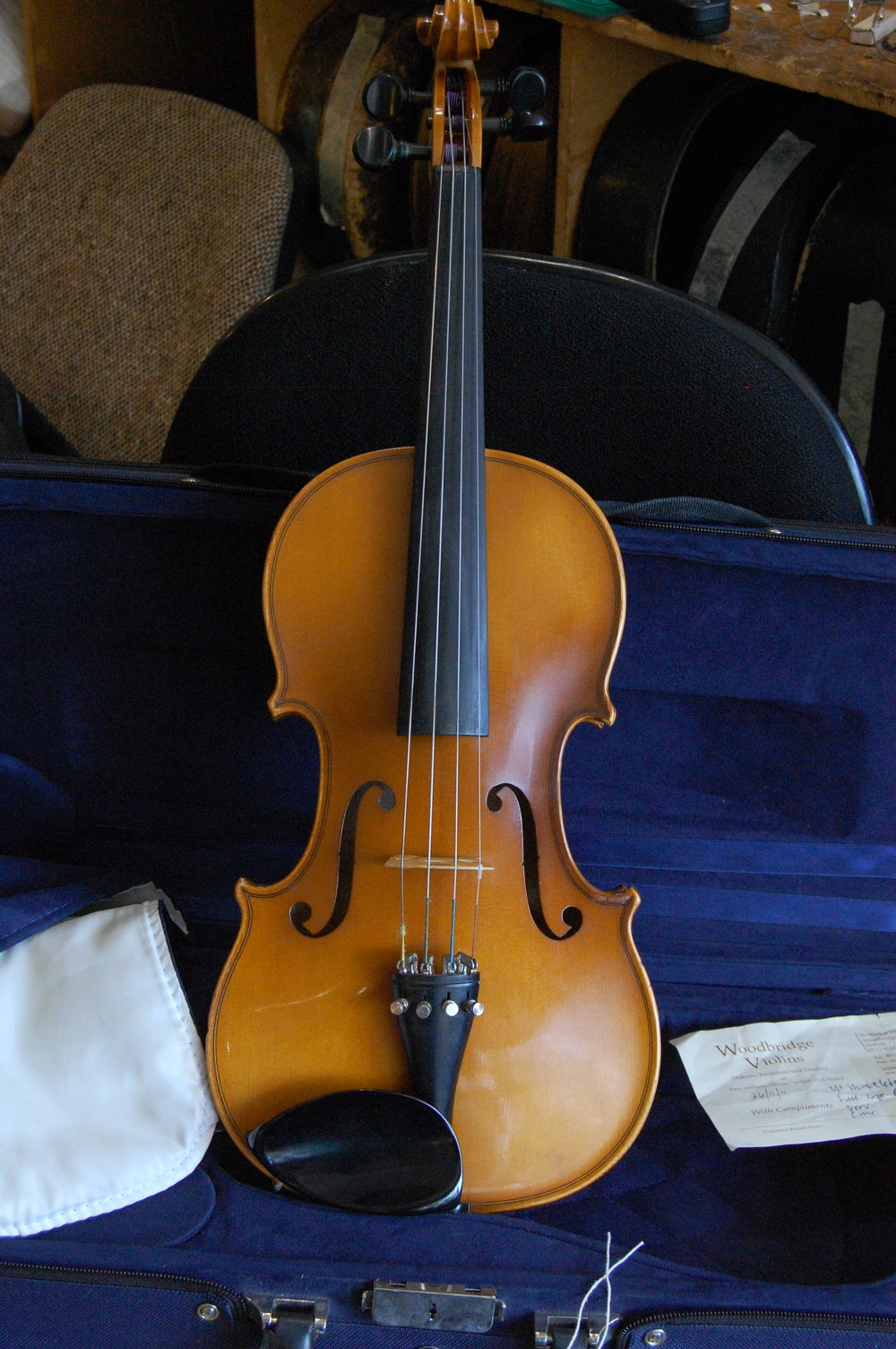 Full size German violin C1980 possibly by 'Hofner'. Sale price £700 including case CS006  Condition: Good  Tone: 4/5  Value for money: 4/5  Overall rating: 4/5