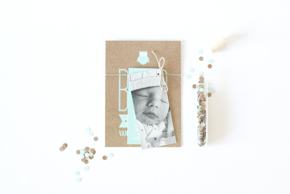 geboortekaartje - op maat gemaakt