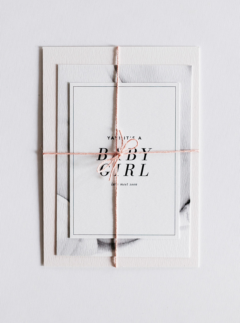 geboortekaartje pakketje baby girl