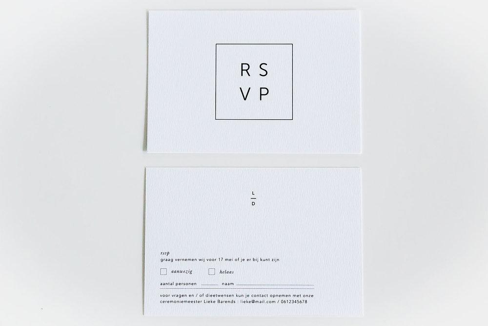 rsvp kaart
