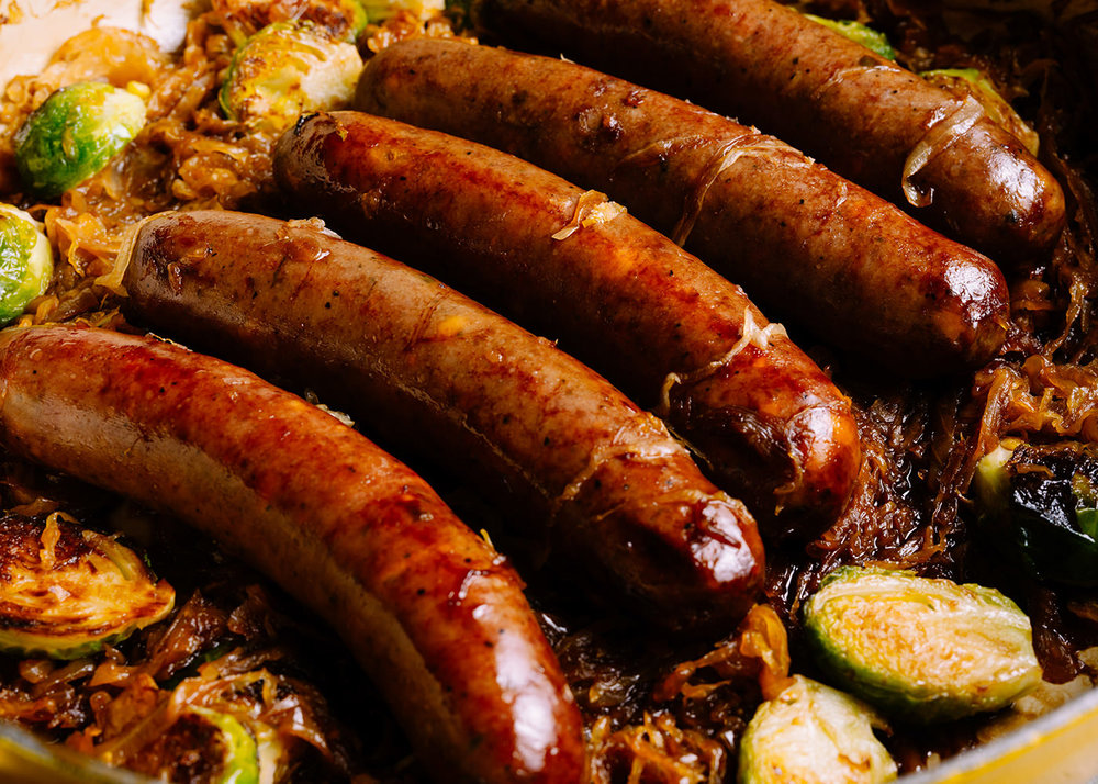 Bison Bratwurst   4 Sausages