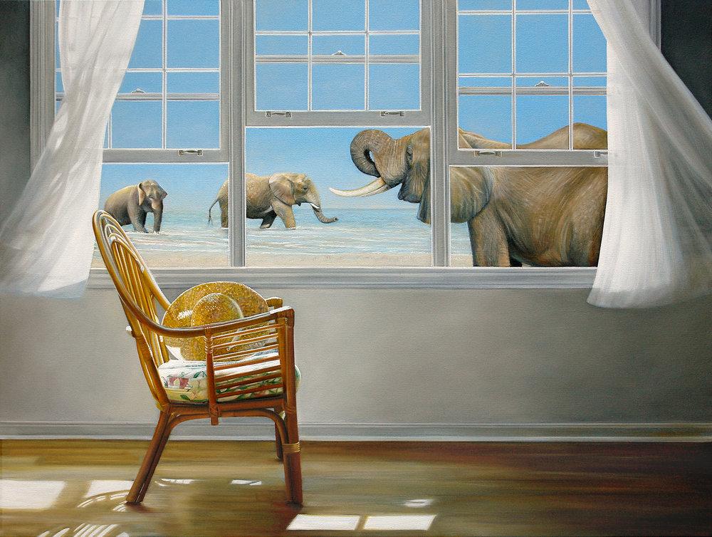 Escape Route | 36 x 48 | Oil on canvas |  SOLD