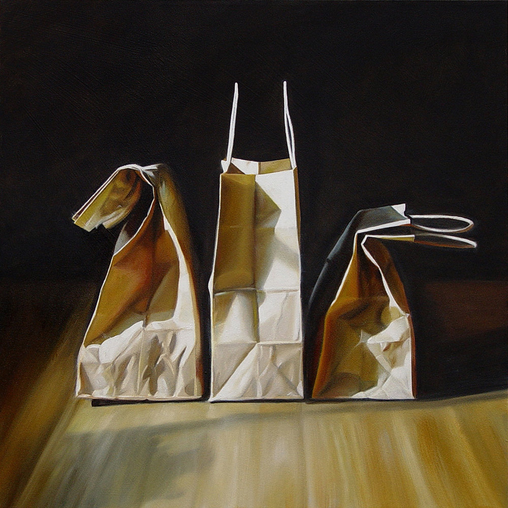 3 Small Bags  |  24 x 24  |  Oil on canvas