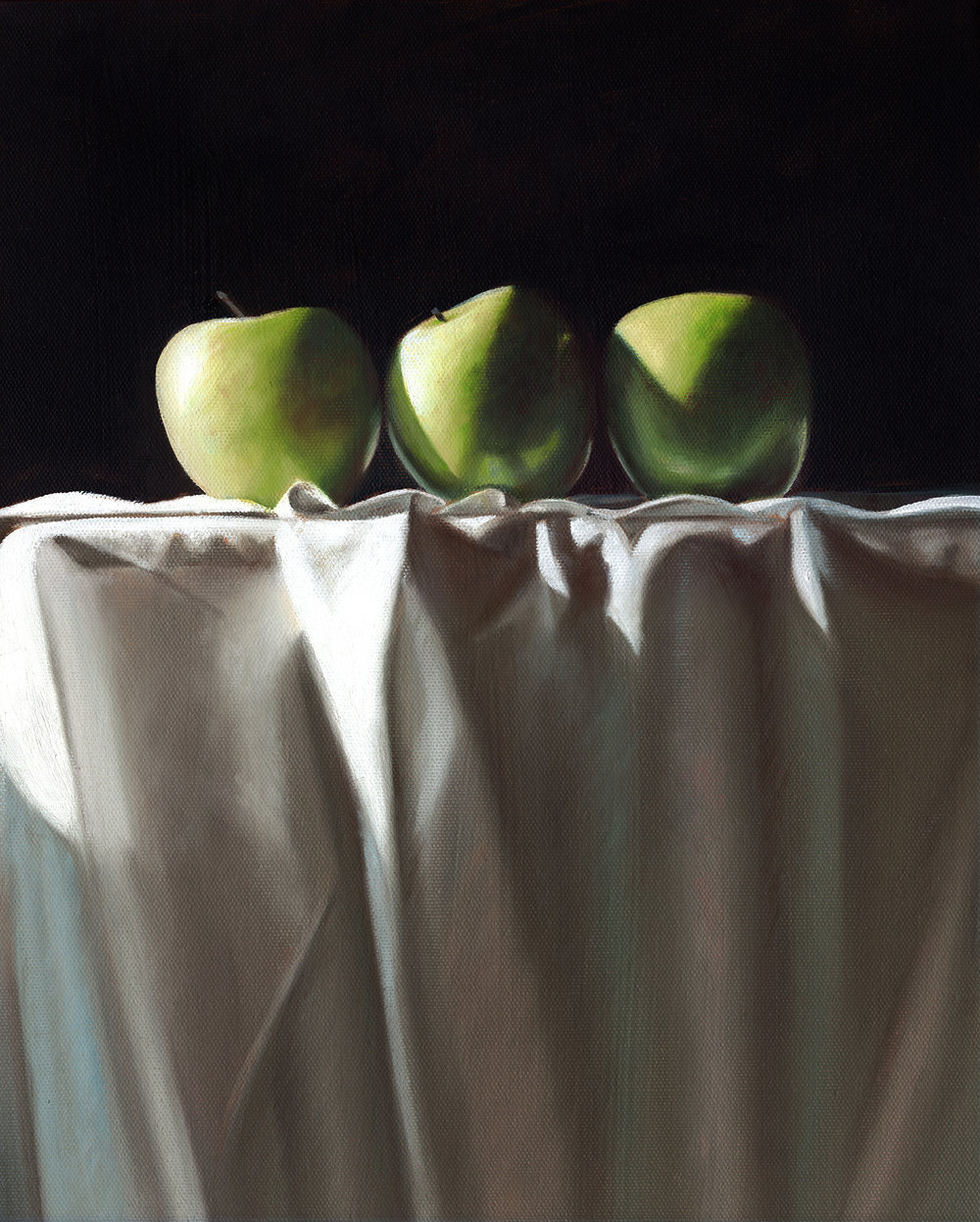 Three Apples  |  12 x 16  |  Oil on canvas