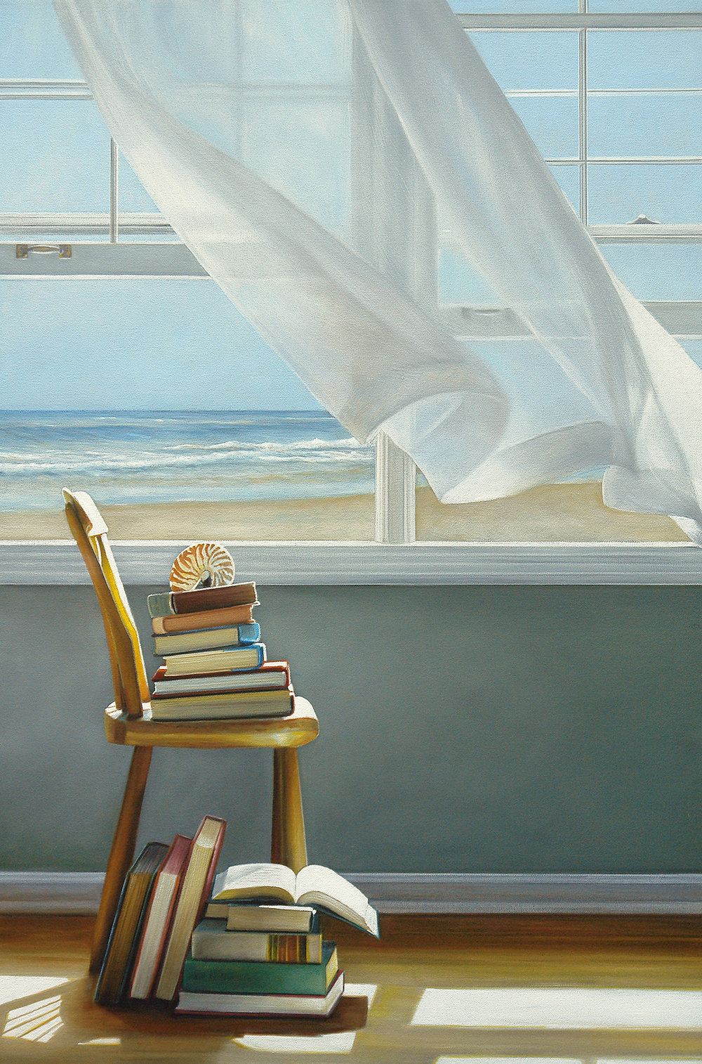 Beach Books No. 3  |  24 x 36  |  Oil on canvas