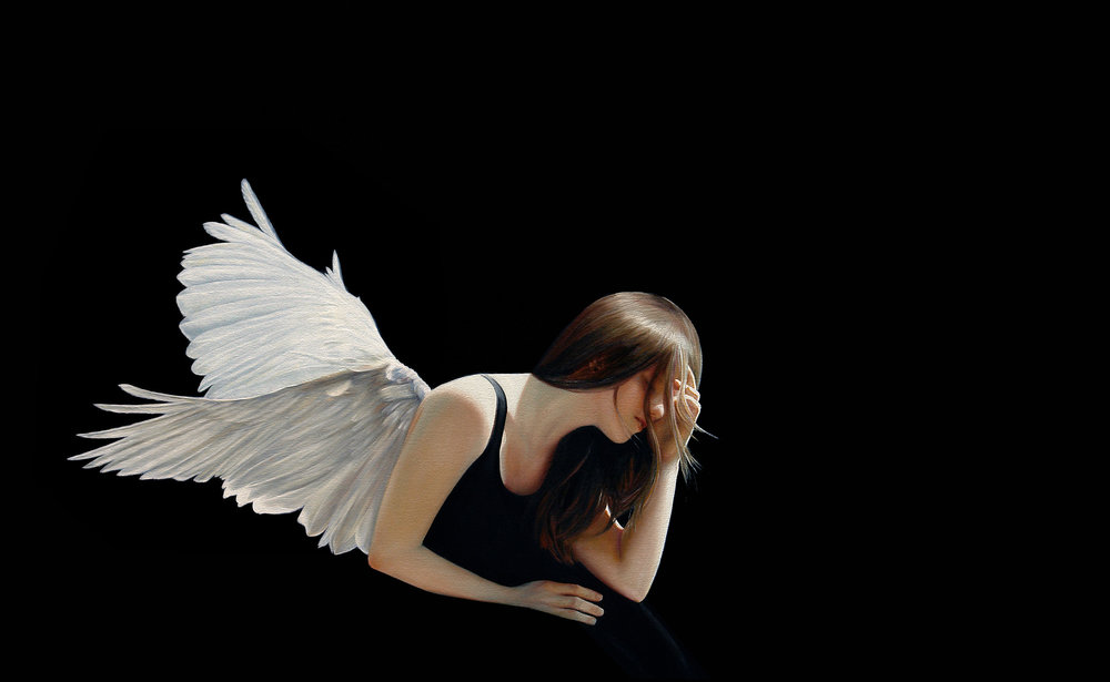 the Burden of Wings  |  30 x 48  |  Oil on canvas