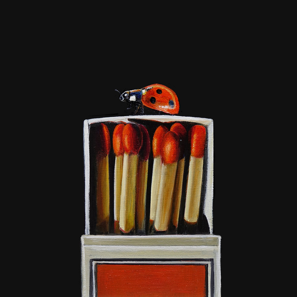 Match Box No. 1   |  7 x 7  |   Oil on canvas