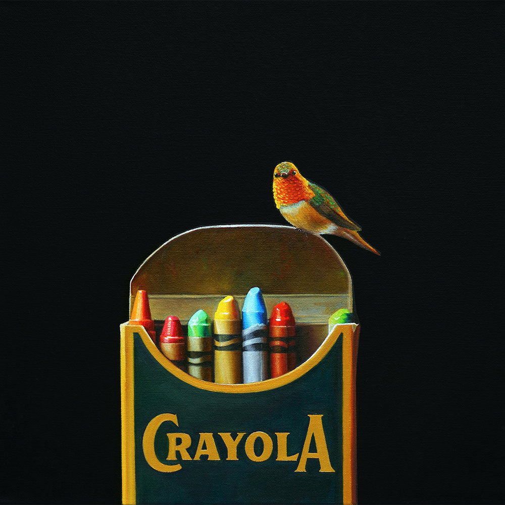 Crayola No. 4 | 16 x 16 | Oil on canvas
