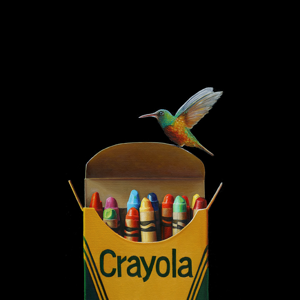 Crayola No. 6 | 16 x 16 | Oil on canvas