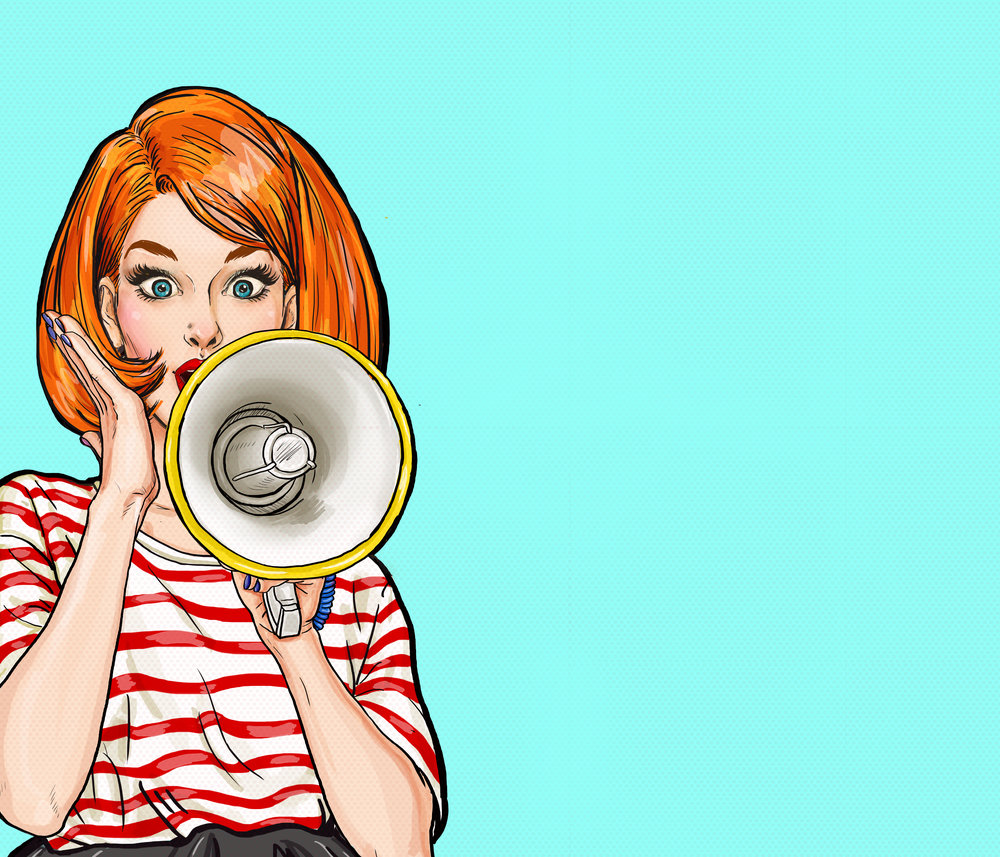 Pop Art Girl Megaphone.jpg