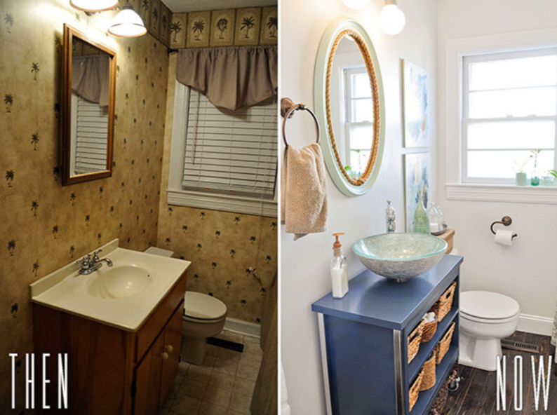 IT'S EASY TO REPLACE THE TOILET & SINK FOR A WHOLE NEW LOOK!