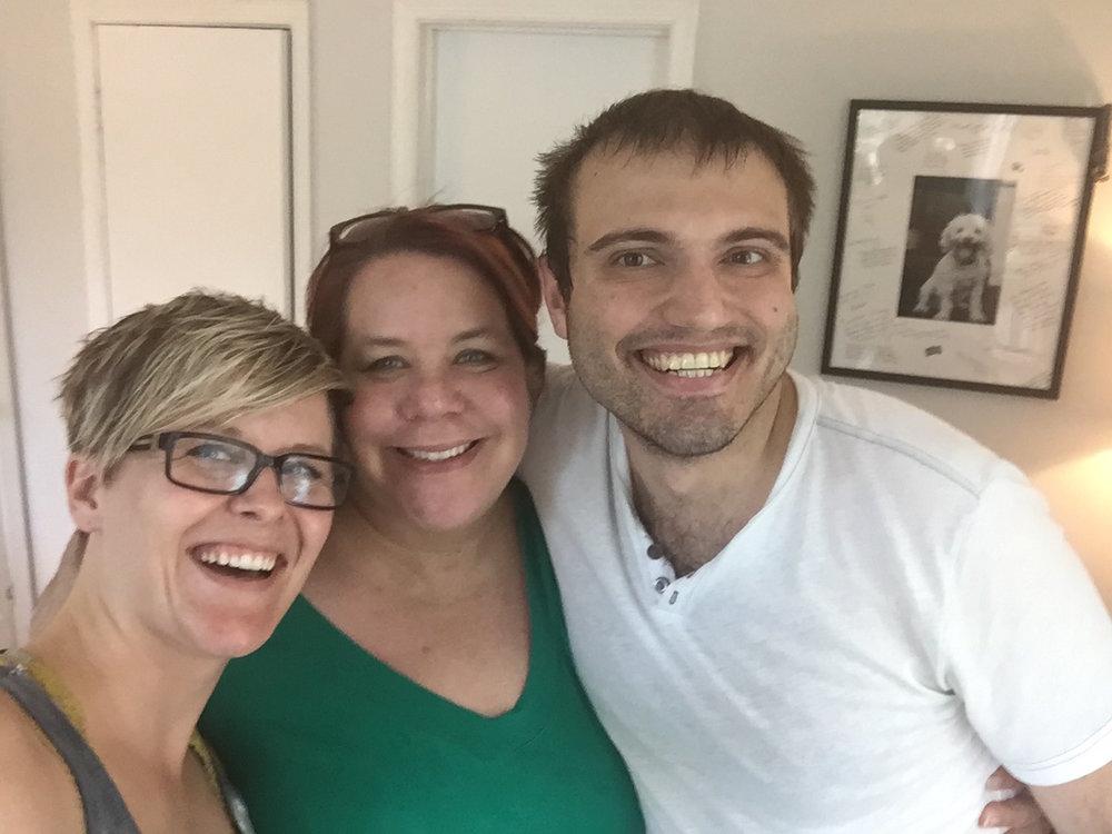 Adventures in Branding podcast team: Melanie Spring, Rebecca Gunter, Tony Porreco (L to R)