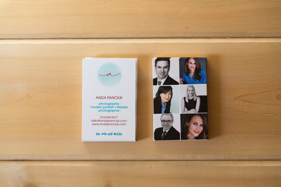 New Business Cards for Headshot Clients! Montreal Headshot ...