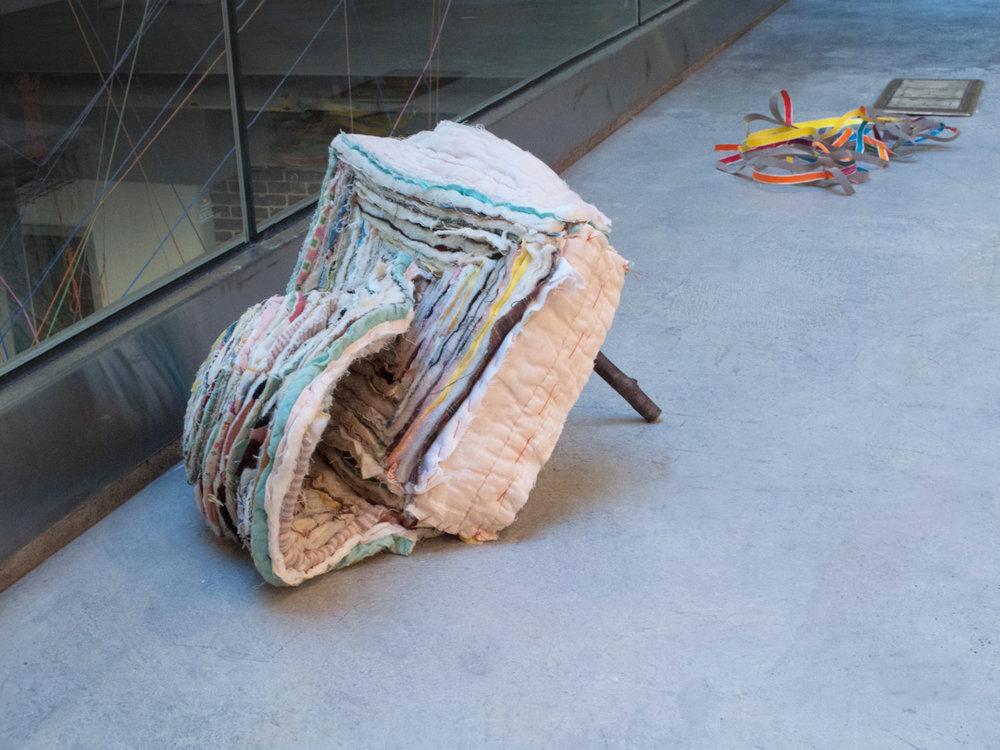 folded palette 2012, cut quilts, stick
