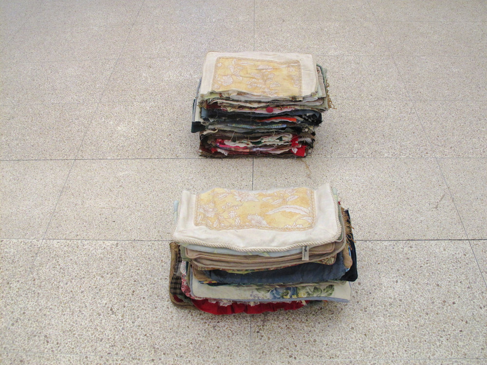 Split palette, 2012 , cut pillows