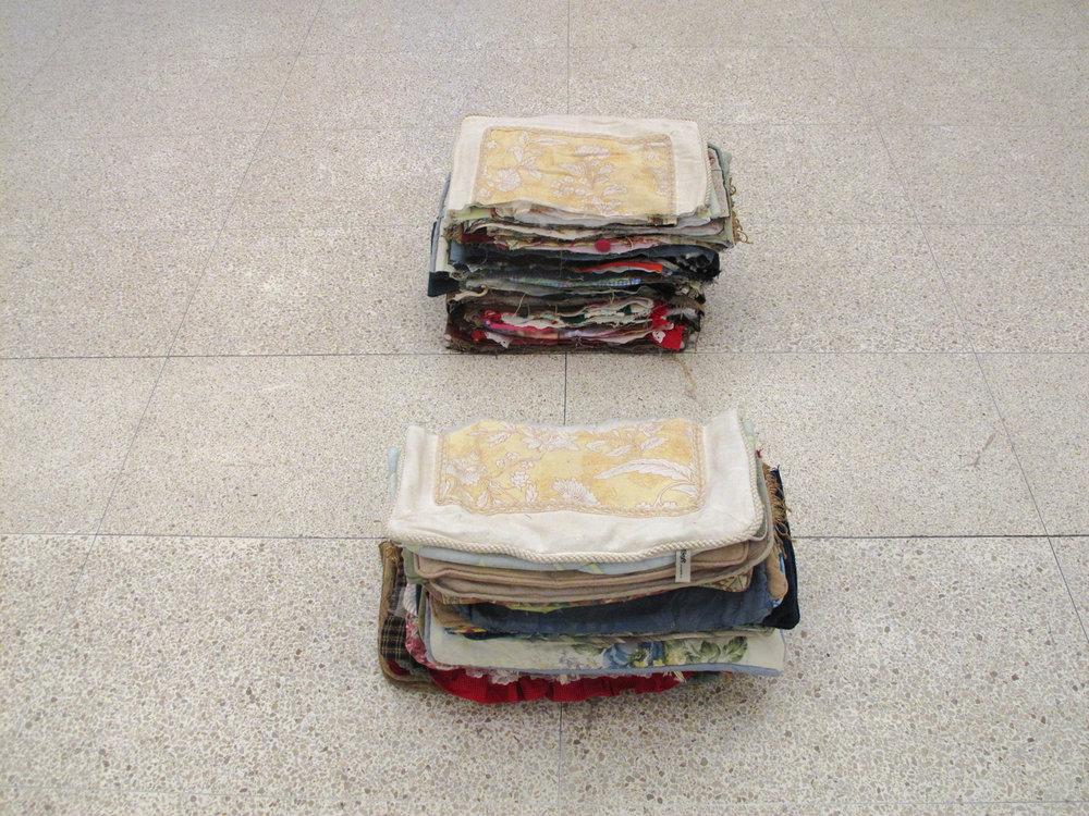 Split palette, 2012 , cut pillows
