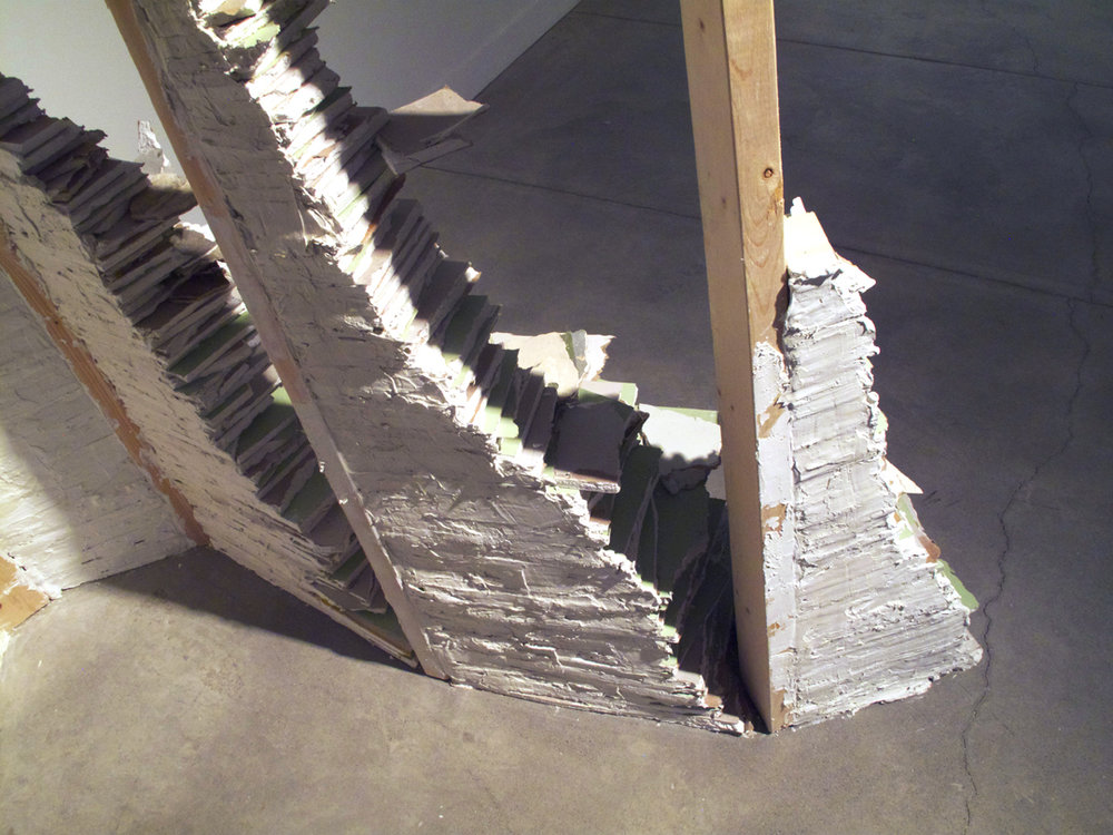 deconstructed frame 2013, pine, plaster, paint