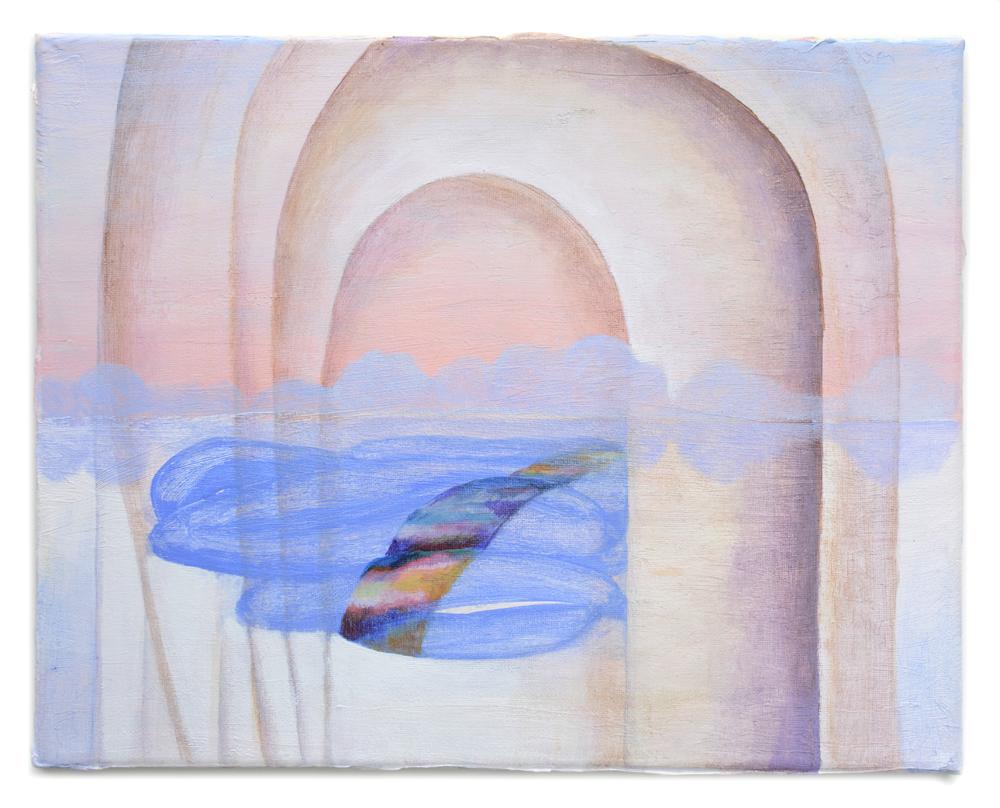 "Soft Limits  2017, 11"" x 14"" acrylic on canvas"