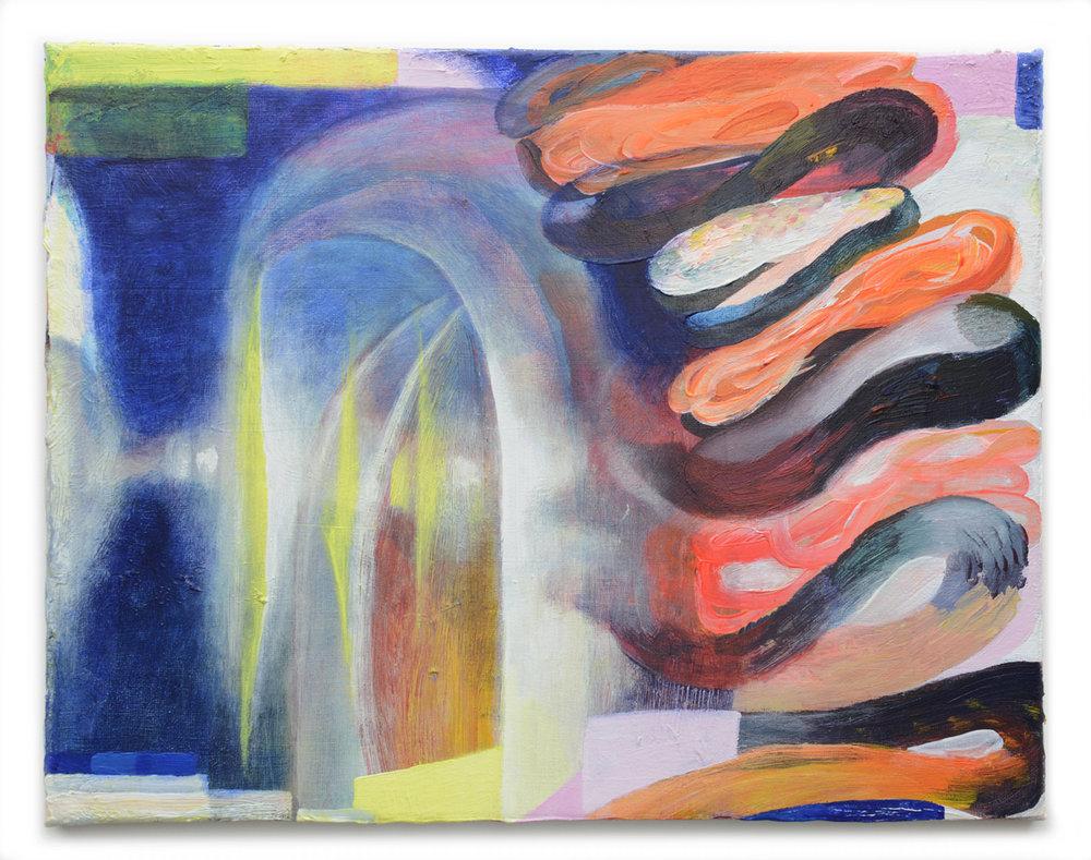 "Sounding 2017, 11"" x 14"", acrylic on canvas"