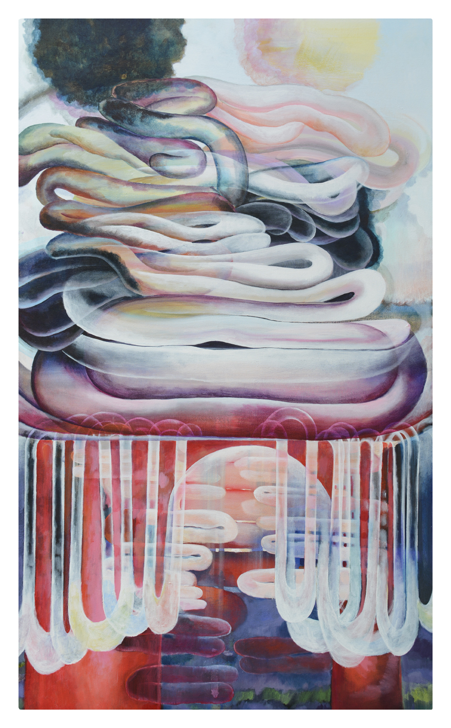 """Soft Bottom, 2017, 60""""x36"""", Acrylic on canvas"""
