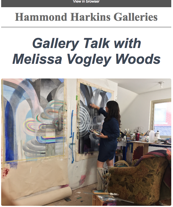 "Please join us for a gallery talk with Melissa Vogley Woods on  April 7 at 2 PM.   Melissa, the featured artist for our group exhibition ""6 plus 1,"" will talk about her current body of work, including her new  scagliola  sculptures."
