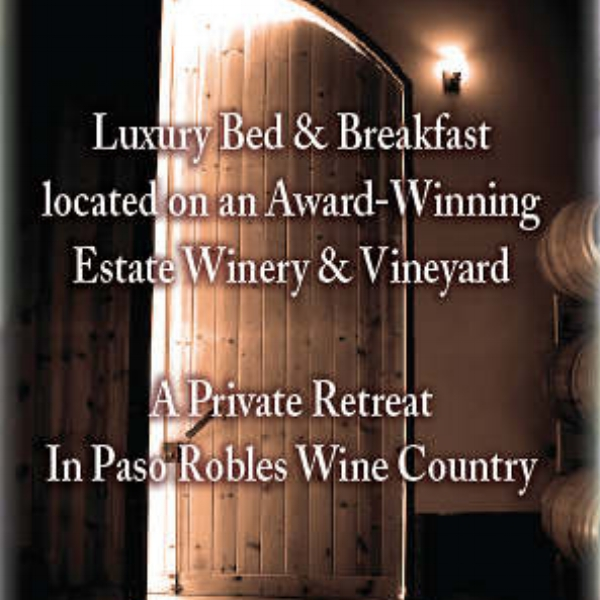 Dunning Vineyards  - Enjoy our private Bed and Breakfast retreat featuring a luxurious one bedroom guest suite with panoramic vineyard and coastal mountain views!  Located on 40 acres.