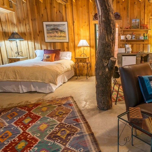 Aravaipa farm  - Rustic, colorful and full of charm, every nook of this quaint country inn has been handcrafted using local timber, stone, adobe, tin, mosaic tile and an eclectic blend of furnishings.