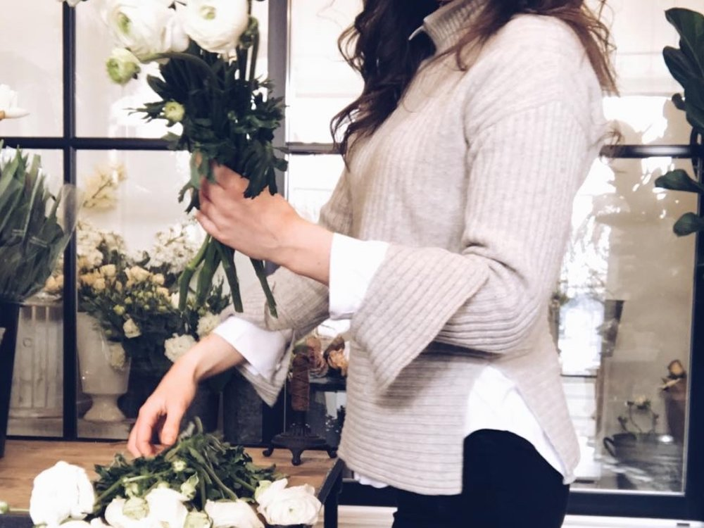 hand-tied flowers -