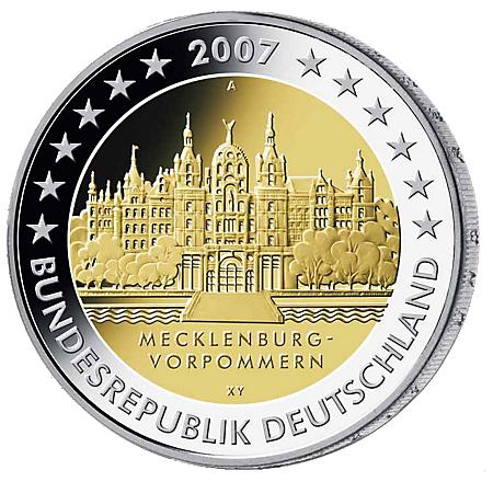 2€ . Schloss Schwerin 2007
