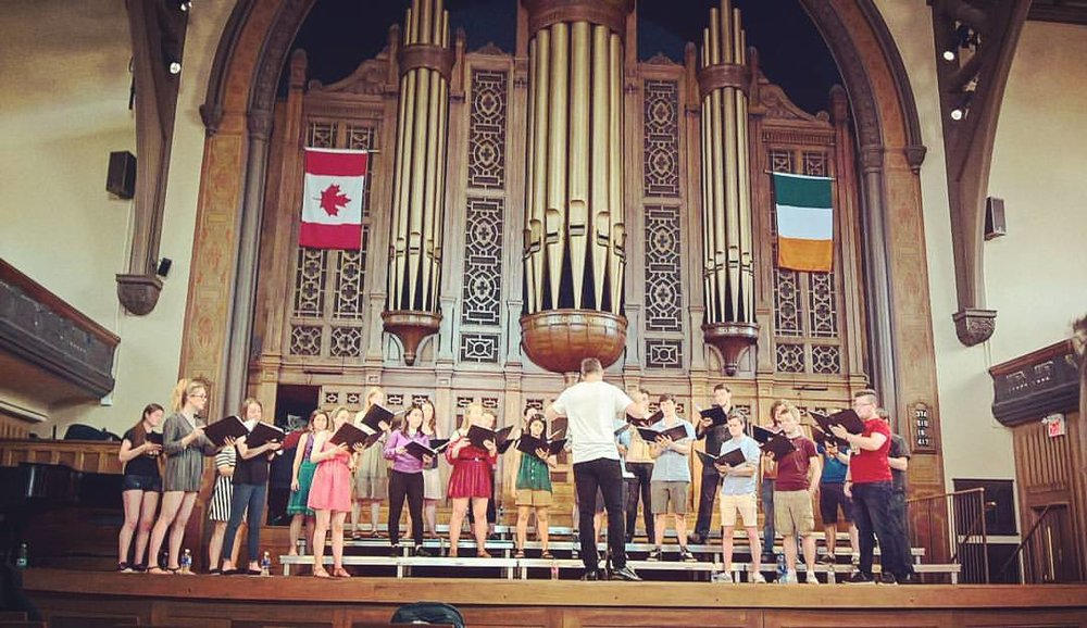 Emma rehearsing with the Irish Youth Chamber Choir in Toronto