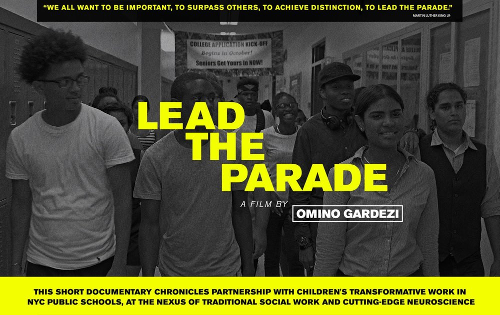 "The title of the film, ""Lead the Parade,"" comes from a 1968 speech by   Dr. Martin Luther King Jr.: ""There is deep down within all of us an   instinct. It's a kind of drum major instinct—a desire to be out front,   a desire to lead the parade, a desire to be first."" Dr. King uses this   analogy to argue that love is a more powerful force in the world than   fear, that nurturing and caring relationships are the antidote to the   crippling stress of growing up in poverty.    Drawing heavily from interviews with neuroscientists, social workers   and others, ""Lead the Parade"" explores the impact that a child's early   environment has on his or her cognitive, social and emotional   development. That growing up in poverty, without nurturing, positive   relationships, impacts more than just a child's day-to-day life. It   makes it nearly impossible to get a good education, build a personal   support network or grow into a prosperous, productive adult.    Debuting on Martin Luther King Day, ""Lead the Parade"" argues that   making public education effective for all children is more than just   good policy, it is a civil rights issue."
